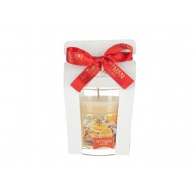 Świeca Cookies glass woskowa 9307-orange cinamon