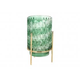 Szklany świecznik 8,8x16,5cm 42718 ZT4A27-18