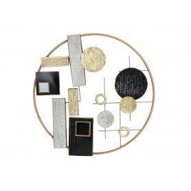 Metalowa dekoracja ścienna koło geomet. 73x73x4,4cm  07214