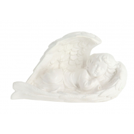Gipsowy Anioł duży skrzydło biały G901b
