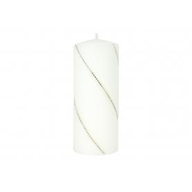 Świeca Bolero walec duży parafinowa  9283-biała