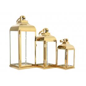 Metalowe Latarnie 3szt Gold 273833