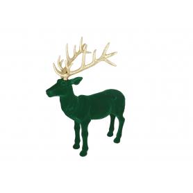 Bożonarodzeniowy renifer welurowy zielon 9837