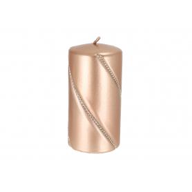 Świeca bolero metalic walec mały rose 09287rosegold