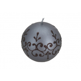 Świeca Tiffany New kula 8 Czarna 6608czarna