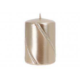 Świeca bolero metalic walec mały szampan 09286szampan