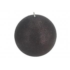 Świeca Glamour kula 10 Czarna 6578-czarna
