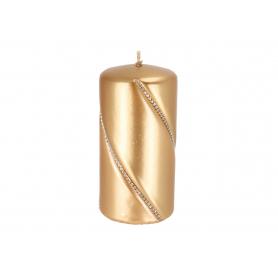 Świeca bolero metalic walec mały złoty 09287zloty
