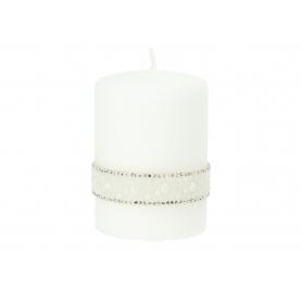 Świece Crystal Opal walec mały 3299-biały