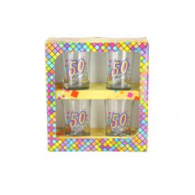 Urodzinowa MOZAIKA zestaw 4 kieliszki  35ml 822650