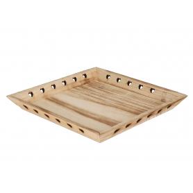 Drewniana taca z gwiazdami 04240