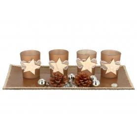 Bożonarodzeniowe kpl 4 świeczników gwiazdą 03234