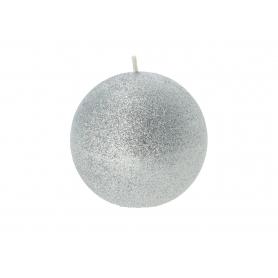 Świeca Glamour kula 10 Srebrna 6578-srebrny