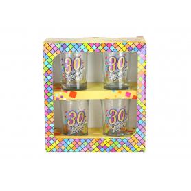 Urodzinowa MOZAIKA zestaw 4 kieliszki  35ml 822630
