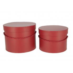 Papierowe pudełka box burgundy kpl.2 1715BR