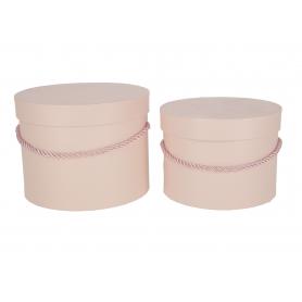 Papierowe pudełka box light pink kpl.2 1715LTPK
