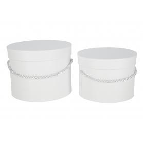 Papierowe pudełka box white kpl.2 1715WH