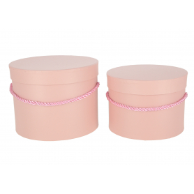 Papierowe pudełka box dirty pink kpl.2 1715DPK