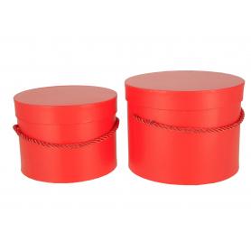 Papierowe pudełka box red kpl.2 1715RED