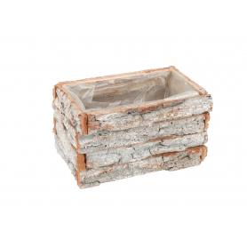 Drewniana skrzynka mała naturalna 19254L