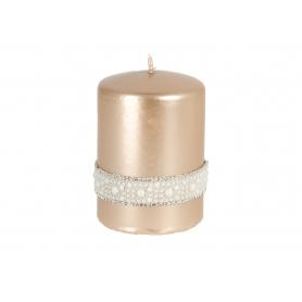 Świece Crystal Opal walec mały 3299-rose gold