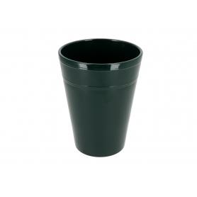 Ceramiczna osłonka storczyk  butelkowa zieleń 82298
