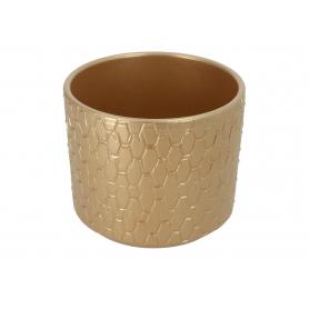 Ceramiczna osłonka cylinder Pirelli 14cm złoty 984057