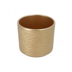 Ceramiczna osłonka cylinder Flora złoty perłowy 998057