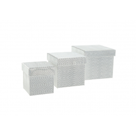 Pudełka flowerbox kwadrat 3szt 3112S