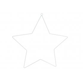 Zawieszka metalowa Gwiazda biała 45454B ZAW-SWGW45454B