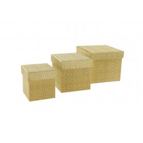 Pudełka flowerbox kwadrat 3szt 3112G