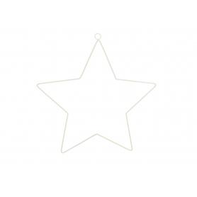 Zawieszka metalowa Gwiazda biała 35354B ZAW-SWGW35354B