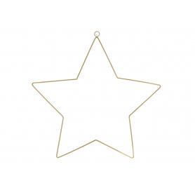Zawieszka metalowa Gwiazda złota 45454ZL ZAW-SWGW45454ZL