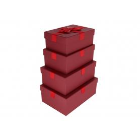Pudełka flowerbox prostokątne 4szt 3901BG