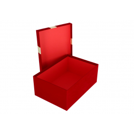 Pudełka flowerbox flokowane kokarda 3781BG
