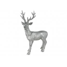 Bożonarodzeniowy Renifer stojący srebrny 01824