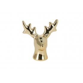 Bożonarodzeniowa głowa renifera złota 3502
