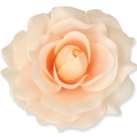 Kwiaty sztuczne róża wyrobowa mix 96 szt 53384-peach 3349