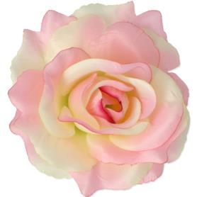 Kwiaty sztuczne róża wyrobowa mix 96 szt 53384-cream pink 3349