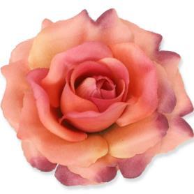 Kwiaty sztuczne róża wyrobowa mix 96 szt 53384-salmon mauve 3349