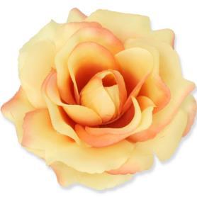 Kwiaty sztuczne róża wyrobowa mix 96 szt 53384-lt yellow salmon 3349