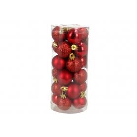 Bożonarodzeniowa bombka 3cm 0324red