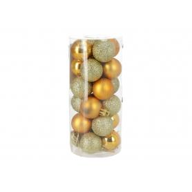 Bożonarodzeniowa bombka 3cm 0324gold