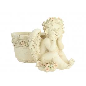 Ceramiczny Anioł z doniczką 03956