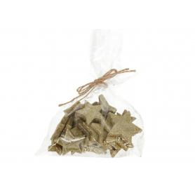 Bożonarodzeniowe gwiazdki brokatowe HY4788ZL