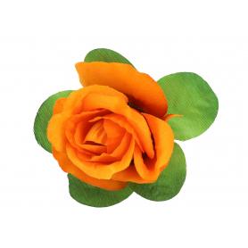 Róża z listkiem 50582 bl003