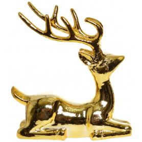 Bożonarodzeniowy Renifer złoty leżący 15141
