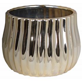 Ceramiczna doniczka złota  07939