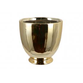 Ceramiczna doniczka złota 07973
