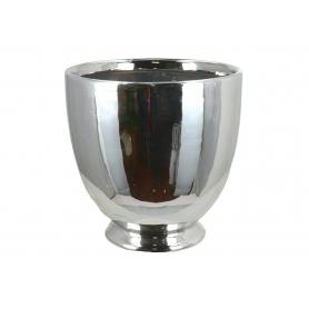 Ceramiczna doniczka srebrna 07980
